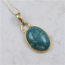 Russian Amazonite Pendant Necklace