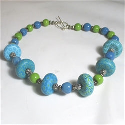 green fair trade Kazuri necklace