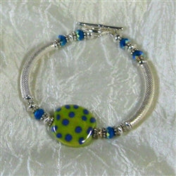 Green Kazuri Bangle Bracelet