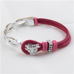 Buy Whimsical Pink Cat Cuff Bracelet