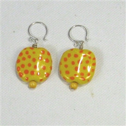 Yellow Kazuri Earrings