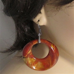 fun big orange hoop earrings
