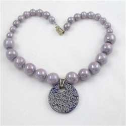 buy lilac fair trade bead necklace online