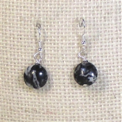 Black and White Zebra Jasper Earrings