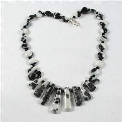 Buy handmade Designer Zebra Jasper Bib Necklace