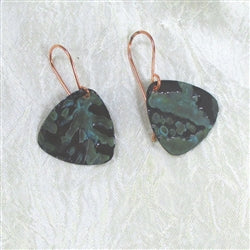 Buy limited addition copper earrings in a guitar pick style