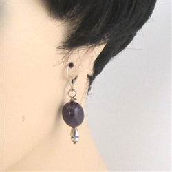Buy classic amethyst earring with sterling teardrop finals