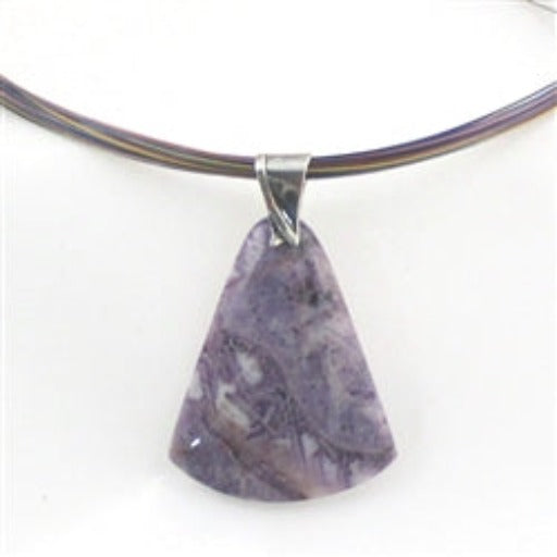Buy purple crazy lace agate pendant on multri-colored multi-strand necklace