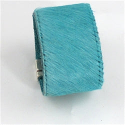 Buy turquoise pony hair-on leather wide cuff bracelet