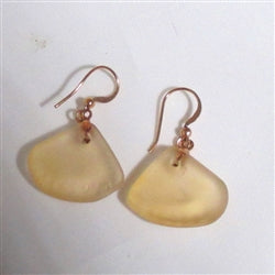 Buy peach seaglass earring on copper ear wires