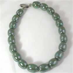 Buy pbottle green fair trade Kazuri necklace
