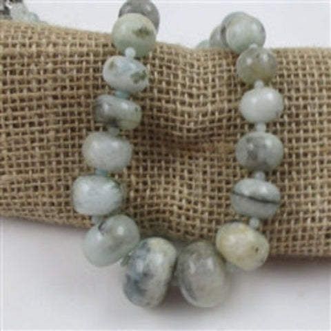 Buy Aqua Amazonite Gemstone Beaded Necklace