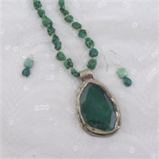 Buy  turquoise pendant necklace & earrings