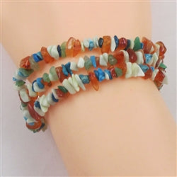 Buy 3 strand multi gemstone bracelet