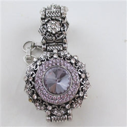 Buy exquisite lilac crystal & rhinestone party bracelet