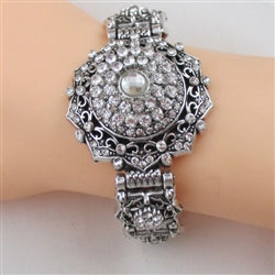 Buy exquisite clear crystal & rhinestone party bracelet