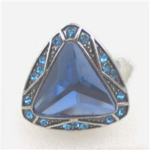 Delightful fun blue rhinestone ring
