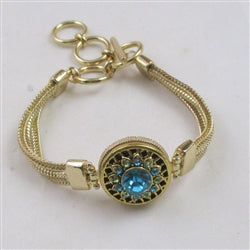 Buy blue & green crystal accented  gold bangle bracelet