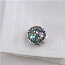 Buy unisex abalone cuff links