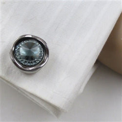 Buy unisex cuff links in smokey  crystals