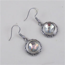 Buy  A/B crystal & silver  earrings