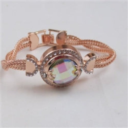 Buy A/B crystal  & rose  gold bangle bracelet