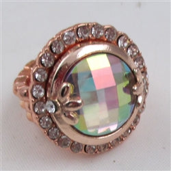 Delightful A/B crystal  rose gold fashion ring