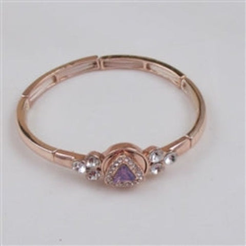 Buy exquisite delicate lavender crystal & rhinestone rose gold bracelet
