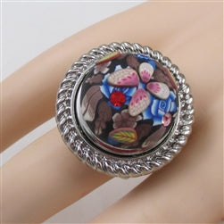 Delightful fun butterfly motif ring