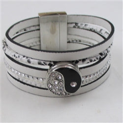 Buy 6 strand leather cord  cuff bracelet
