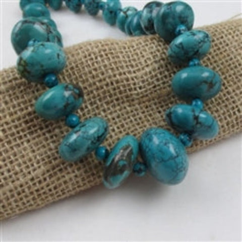 Buy big bold statement genuine turquoise graduating roundell beadednecklace