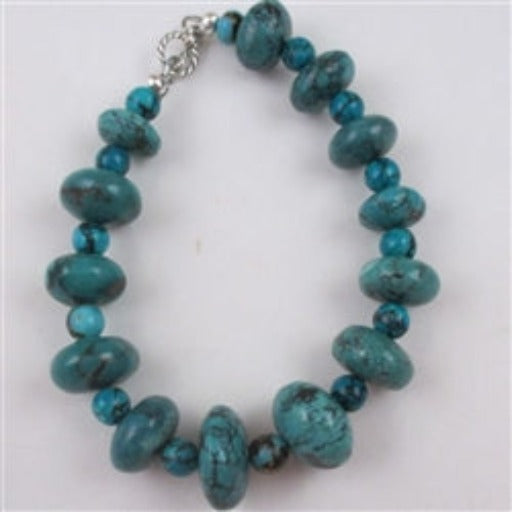 Buy classic graduating turquoise beaded bracelet