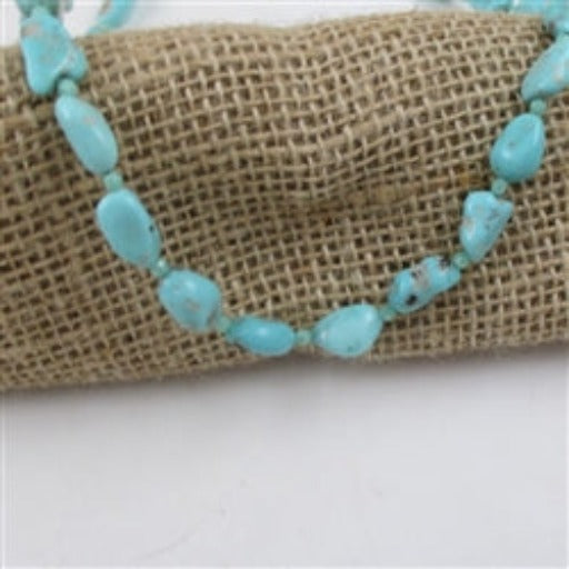 Buy turquoise nugget necklace lavish aqua color