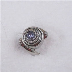 Delightful  purple stone fashion ring