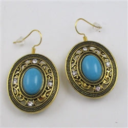 Buy  turquoise & gold  drop  earrings