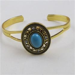 Buy turquoise & gold  bangle bracelet
