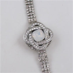 Buy exquisite alabaster crystal & rhinestone   bracelet
