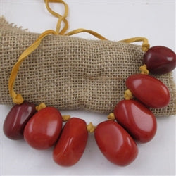 Eco-friendly jewelry is this tagua nutbold statement necklace Sporty fun  to wear