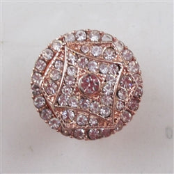 Delightful rhinestone & rose gold fashion ring