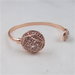 Buy rhinestone & rose  gold bangle bracelet