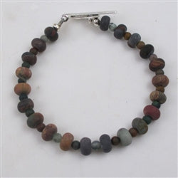 Gemstone bracelet in picasso jasper  is a classic