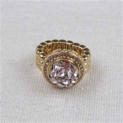 Buy delightful multi crystal  gold fashion ring