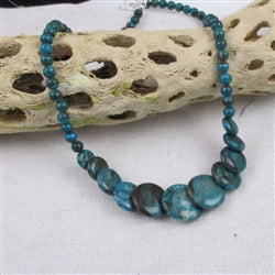 Blue jasper overlapping coin  necklace