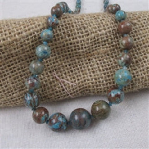 Buy affordable unique rain forest jasper beaded necklace