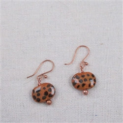 Cheetah print  kazuri Earrings
