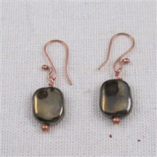Buy handcrafted designer earrings made with fair trade handmade black Kazuri beads