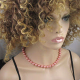 Rose South Sea Pearl Necklace & Earrings