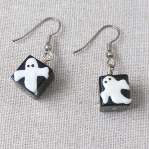 Ghost Dice Earrings