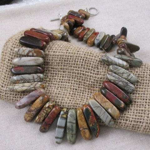 Autumn Hues Gemstone Collar Necklace