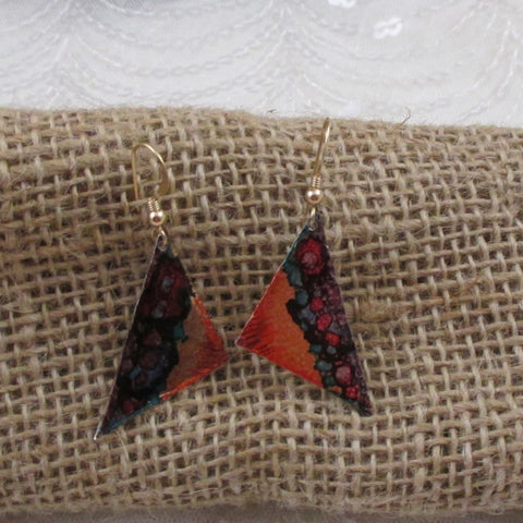 Patina Metal Drop Earrings